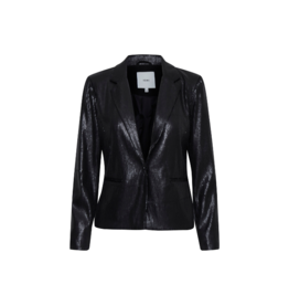 ICHI Cammi Blazer in Black Sequins