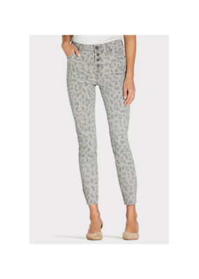 Kut from the Kloth KUT Connie High Rise Ankle Skinny in Grey Leopard