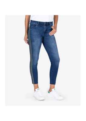 Kut from the Kloth KUT Connie High Rise Skinny with Raw Hem in Plant Wash
