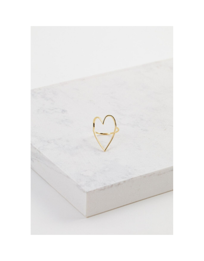 Lover's Tempo Lovestruck Gold-Plated Ring Size 7 by Lover's Tempo