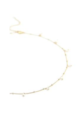 Lover's Tempo LT Dot Pearl Necklace, White