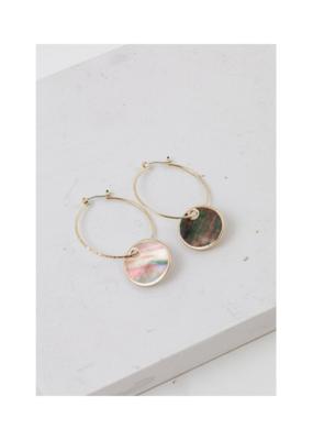 Lover's Tempo LT Mirage Hoop Earrings Abalone