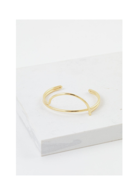 Lover's Tempo LT Half Moon Bangle Gold