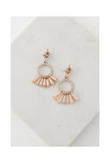 Lover's Tempo Lover's Tempo Jolene Drop Earrings  Peach Rose