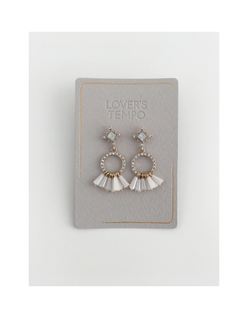 Lover's Tempo Lover's Tempo Jolene Drop Earrings  White