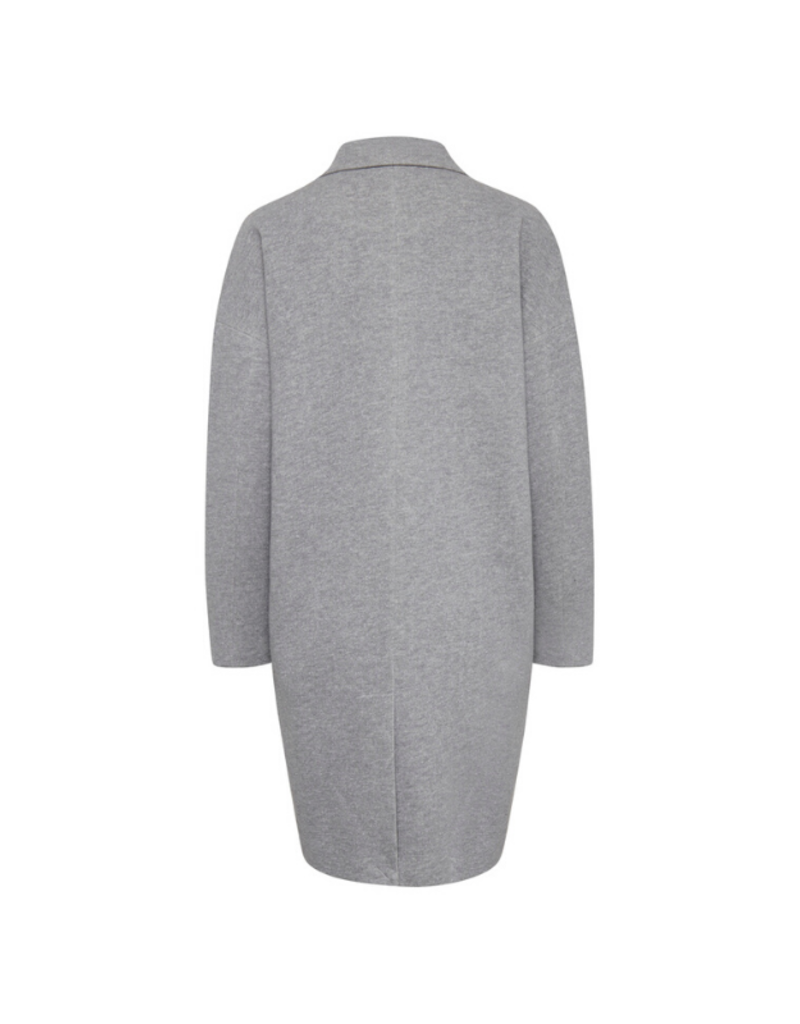 ICHI Ivalo Jacket/Coat Grey Melange