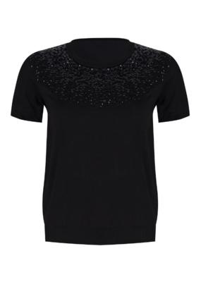 Esqualo Sequins Sweater Black
