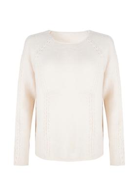 Esqualo Cable Stitch Sweater Beige