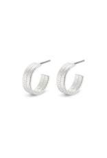 PILGRIM Pilgrim Yggdrasil Wide Hoop Earrings in Silver