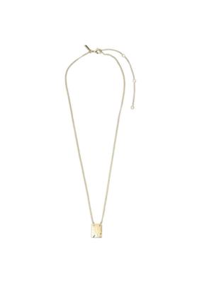 PILGRIM Pilgrim Yggdrasil Rectangular Pendant Necklace in Gold