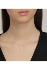 PILGRIM Pilgrim Yggdrasil Rectangular Pendant Necklace in Silver