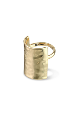 PILGRIM Pilgrim Yggdrasil Hammered Ring in Gold