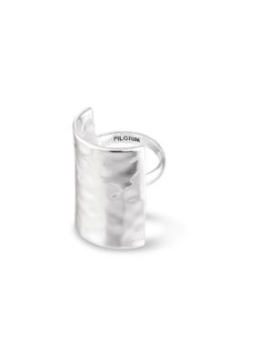 PILGRIM Pilgrim Yggdrasil Hammered Ring in Silver