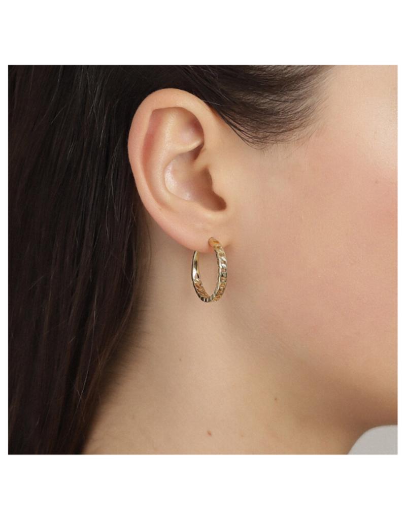 PILGRIM Pilgrim Yggdrasil Chain Hoop Earrings in Gold