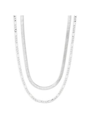 PILGRIM Pilgrim Yggdrasil Set of 2 Necklaces in Silver