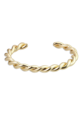 PILGRIM Pilgrim Skuld Twisted Bangle Bracelet in Gold