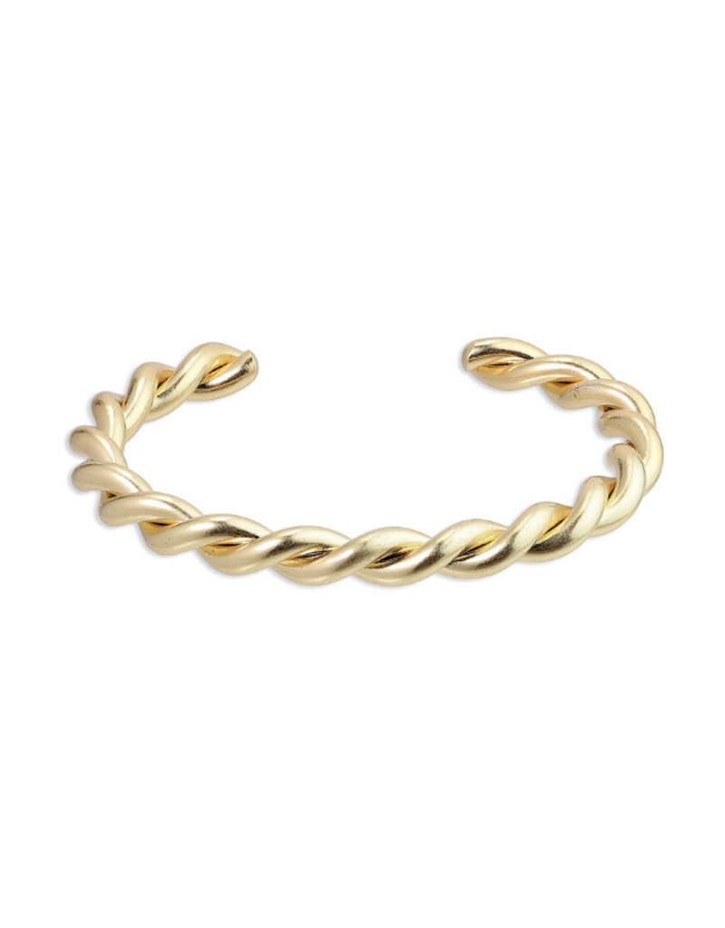 PILGRIM Pilgrim Skuld Twisted Bangle Bracelet in Gold