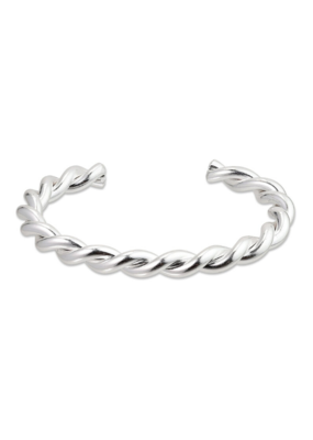 PILGRIM Pilgrim Skuld Twisted Bangle Bracelet in Silver