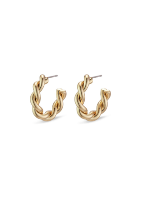 PILGRIM Pilgrim Skuld Twisted Hoop Earring in Gold