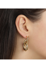 PILGRIM Pilgrim Skuld Knotted Ring Earrings in Gold