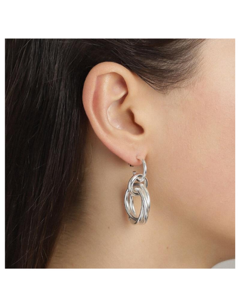 PILGRIM Pilgrim Skuld Knotted Ring Earrings in Silver