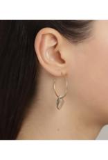 PILGRIM Pilgrim Skuld Grey Glass Pendant Earrings in Gold