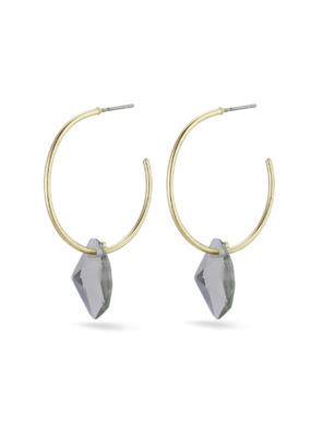 PILGRIM Pilgrim Skuld Grey Glass Pendant Earrings in Gold