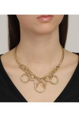 PILGRIM Pilgrim Skuld Knotte Rings Necklace in Gold