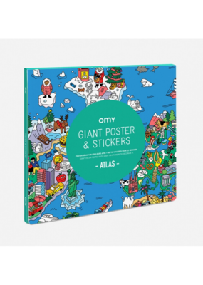 omy OMY Atlas Sticker Poster