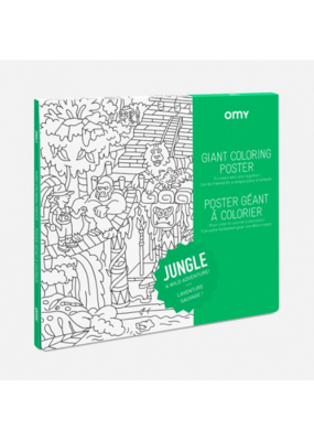 omy OMY Jungle Coloring Poster