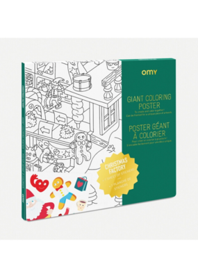 omy OMY Santa's Workshop Colouring Poster