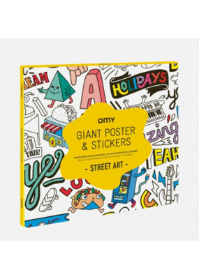 omy OMY Street Art Sticker Poster