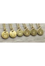 jj&rr Gold Petite Letter Necklace