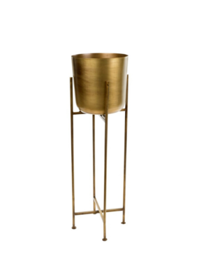Sooke Brass Plant Stand Large