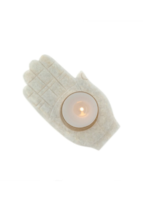 Marble Hand Tea Light