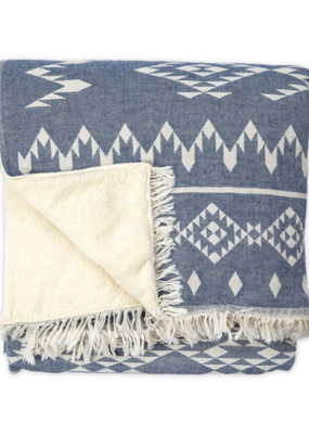 Fleece Lined Throw Atlas Denim
