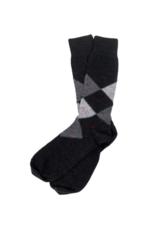 Alpaca Argyle Socks Black XL