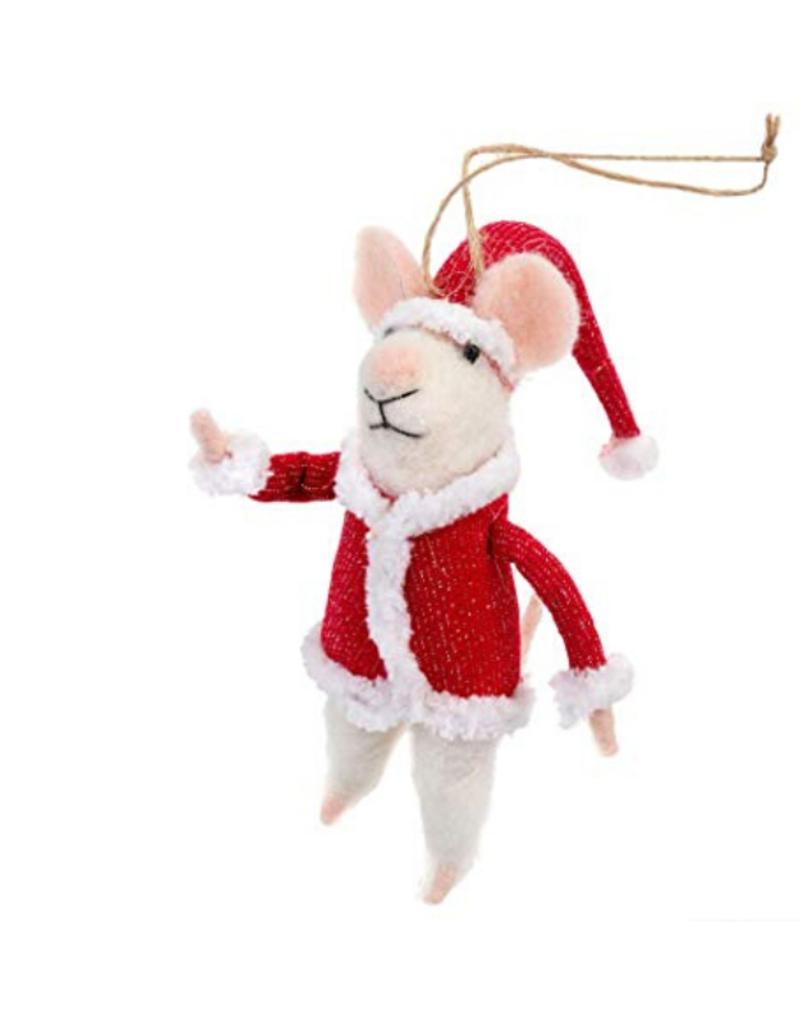Mouse Ornament Santa Mouse