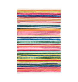 Dash & Albert Dash & Albert Cotton Rug 2x3 Bright Stripe Indoor/Outdoor