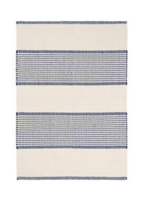 Dash & Albert Dash & Albert La Mirada Navy Woven Cotton Rug, 2x3