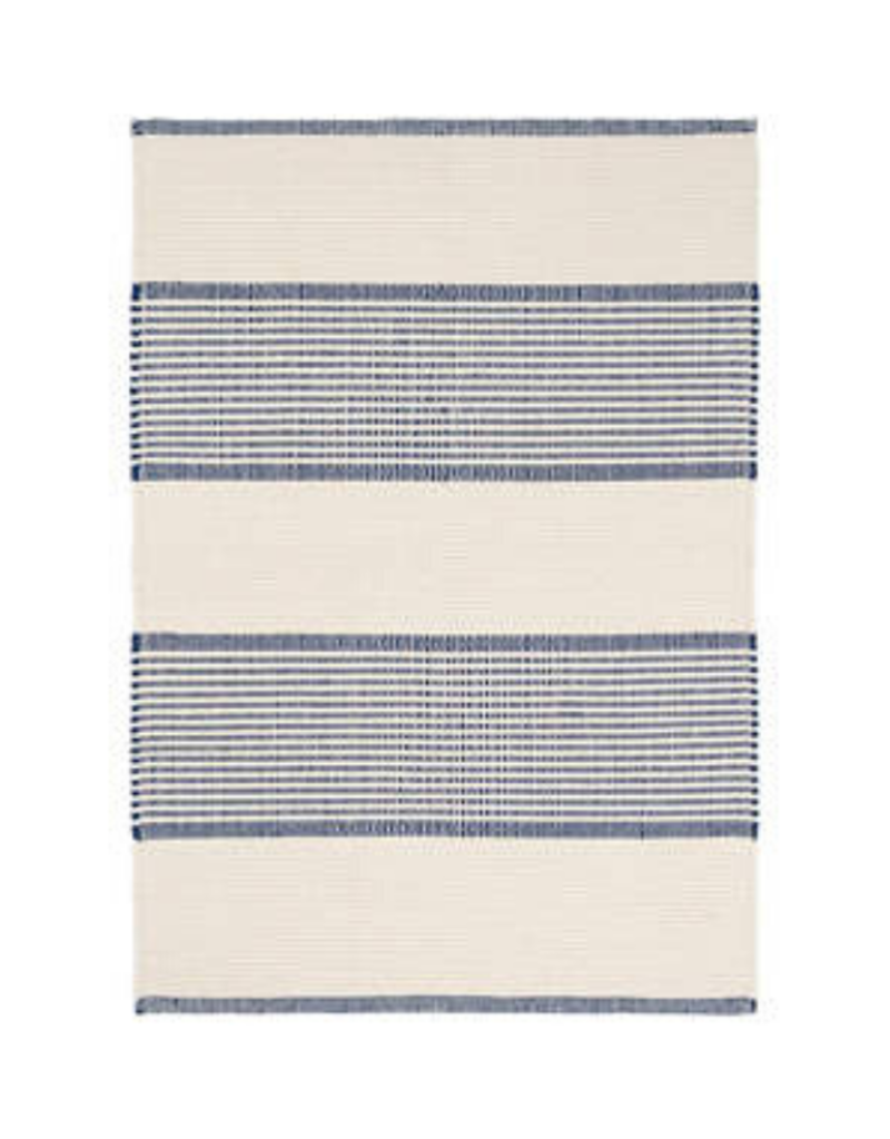 Dash & Albert Dash La Mirada Navy  Woven Cotton Rug, 2x3
