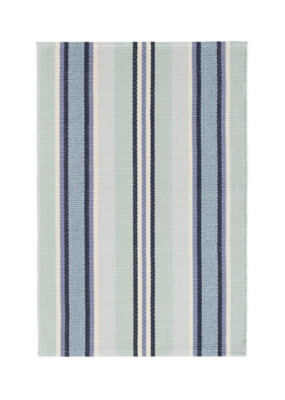 Dash & Albert Dash & Albert Barbados Stripe Woven Cotton Rug Runner 2.5x8