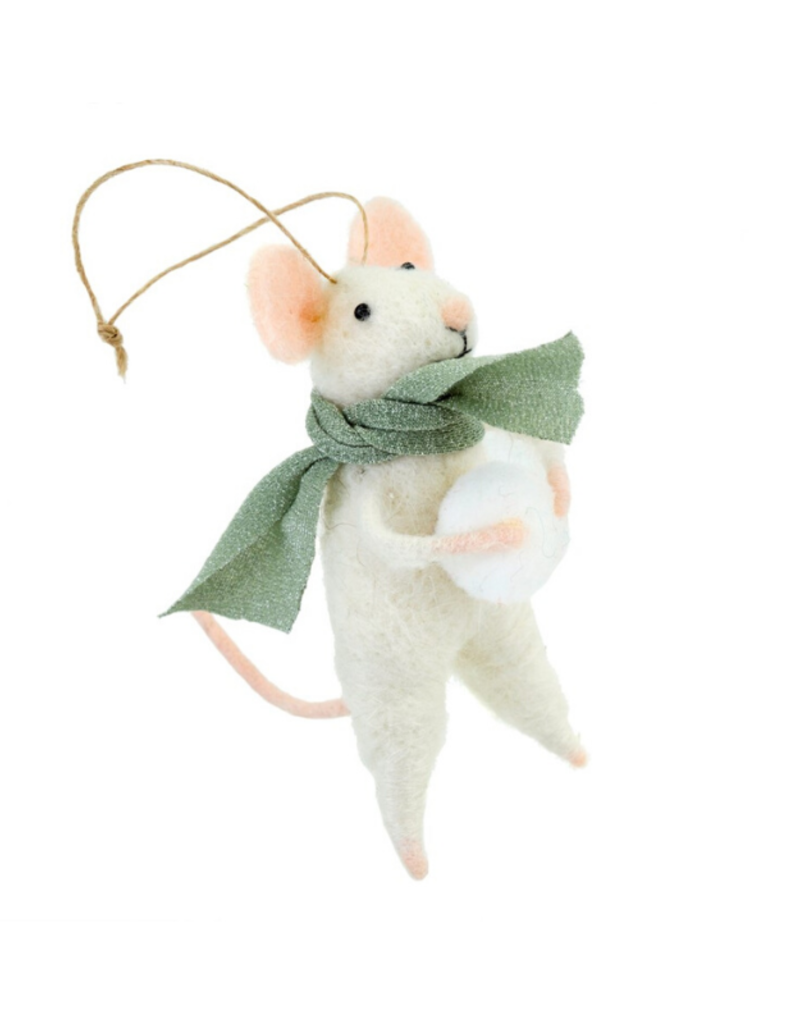 Mouse Ornament Snowball Sal