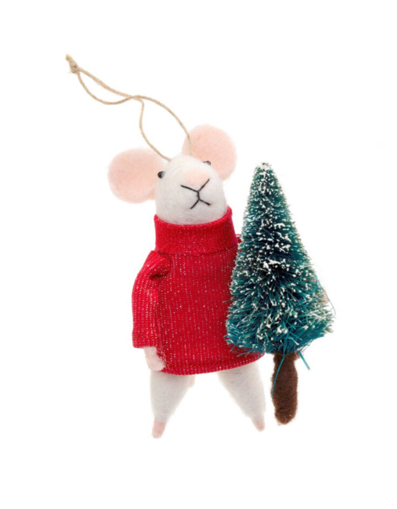 Mouse Ornament Tree Trimmer Tom