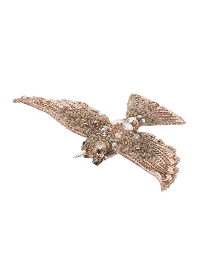Bird on Clip Champagne Ornament