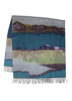 FRAAS Throw Amethyst Skies Taupe & Teal
