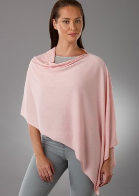 lemonwood Lemonwood Pansy Silk & Cashmere Poncho in Blush Pink