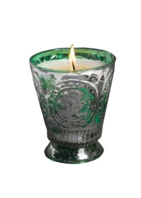 himalayan trading post Himalayan Wild Green Fig Fleur De Lys Candle