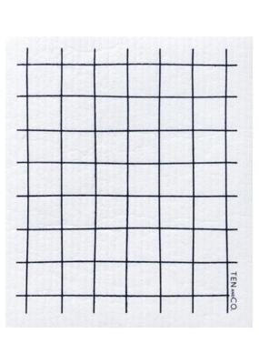 Ten & Co. Ten & Co. Sponge Cloth Grid Black