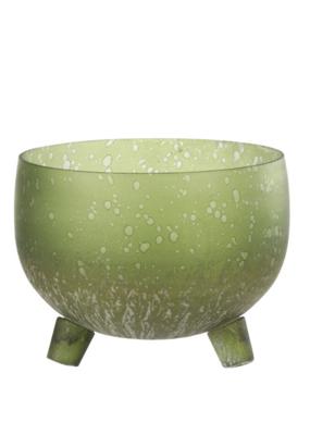 Glass Candleholder Light Green Wide